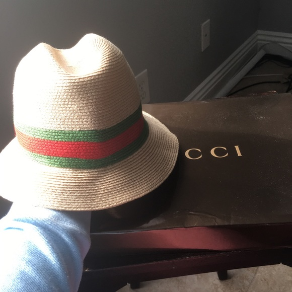 Gucci Accessories - Gucci straw fedora 08254581df6f